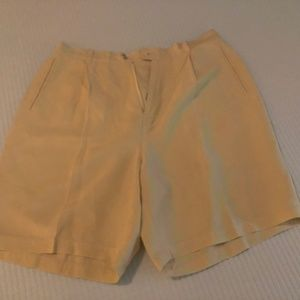 Tommy Bahama Shorts - Soft Yellow (Creme) Tommy Bahama Silk/Linen Shorts